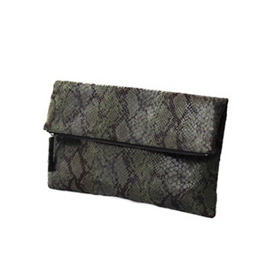 FOLD OVER CLUTCH - GREEN
