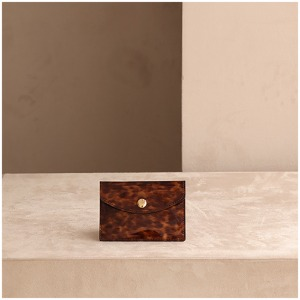 CARD POUCH - LEOPARD BROWN
